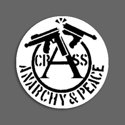 Crass Anarchy Peace Badge 167 Ruin Nation Records